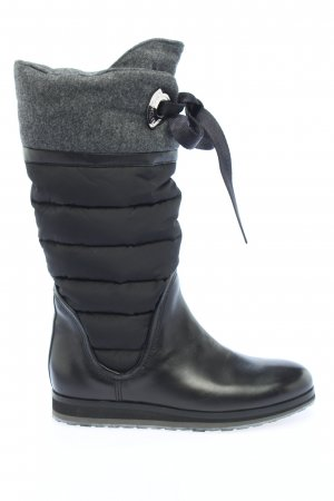 Moncler Slouch Stiefel schwarz Steppmuster Casual-Look