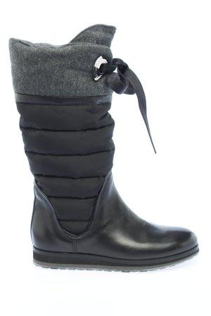 Moncler Ocieplane buty czarny Pikowany wzór W stylu casual