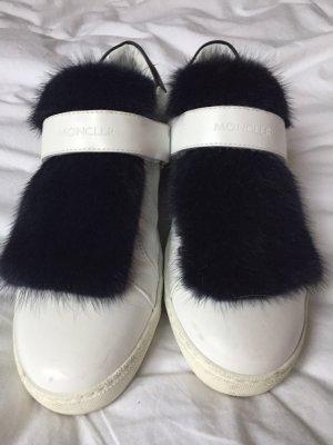 Moncler Sneaker con strappi bianco-blu scuro