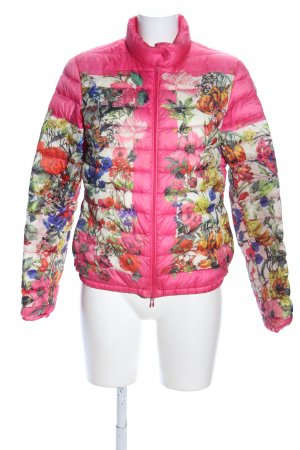 Moncler Quilted Jacket flower pattern casual look