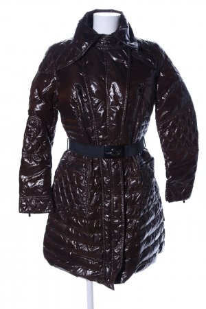 Moncler Quilted Coat brown quilting pattern casual look