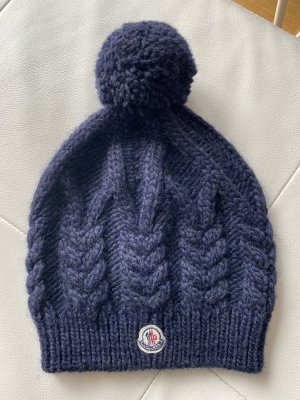 Moncler Knitted Hat dark blue