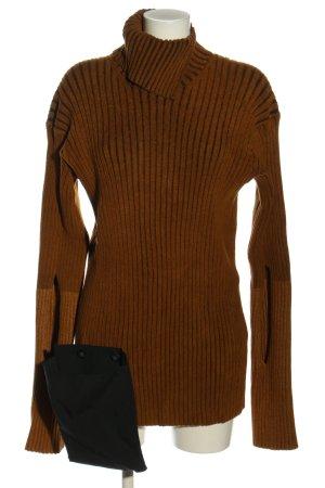 Moncler Sweter z dzianiny brązowy W stylu casual