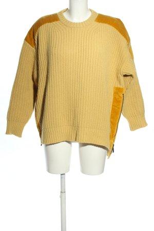 Moncler Sweter z dzianiny bladożółty-jasny pomarańczowy W stylu casual