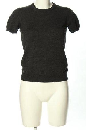 Moncler Strickshirt schwarz meliert Casual-Look