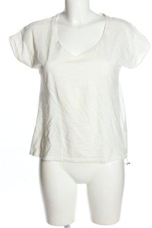 Moncler Koszulka z dekoltem w kształcie litery V biały W stylu casual