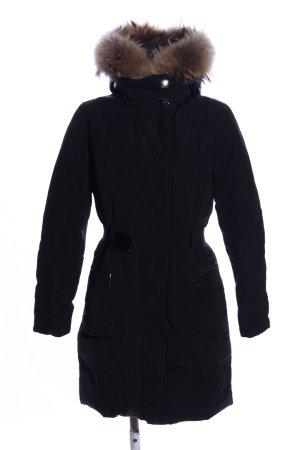 Moncler Chaqueta de invierno negro estampado acolchado look casual