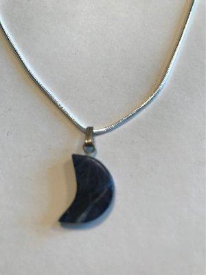 925er Silber Cadena de plata color plata-azul oscuro