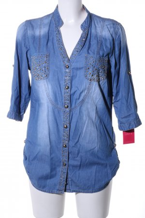 Monday Denim Shirt blue casual look