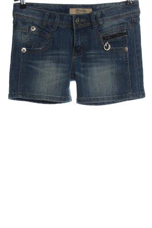 Monday Pantaloncino di jeans blu stile casual