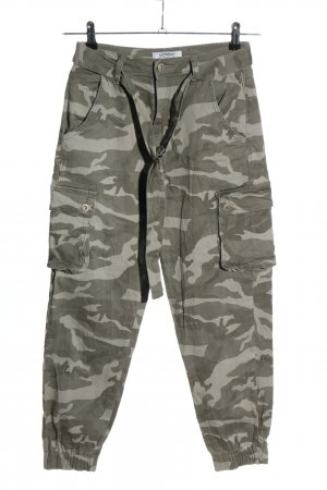 Monday Premium Pantalon cargo kaki-gris clair motif de camouflage
