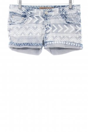 Monday Premium Shorts blau-weiß grafisches Muster Casual-Look