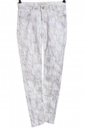 Monday Skinny Jeans hellgrau-weiß abstraktes Muster Casual-Look
