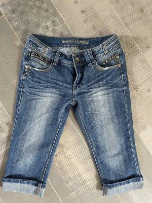 Monday jeans Vaquero 3/4 azul oscuro-azul