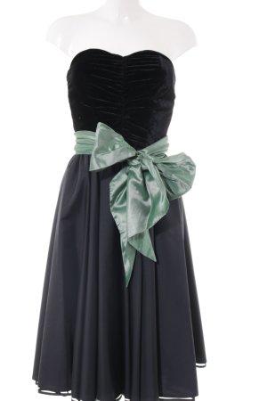 Mondi Abendkleid schwarz-türkis Elegant
