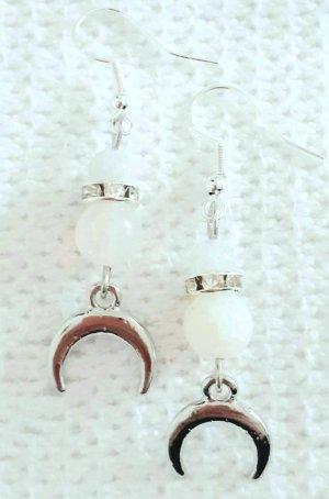 Mondstein Ohrhänger, 925er Silber