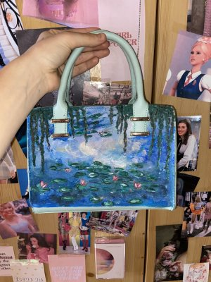 """Monets """"Water Lilies"""" inspired purse"""
