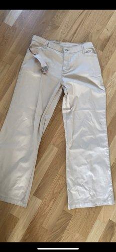 Monkee genes Broek met wijd uitlopende pijpen room-beige Katoen