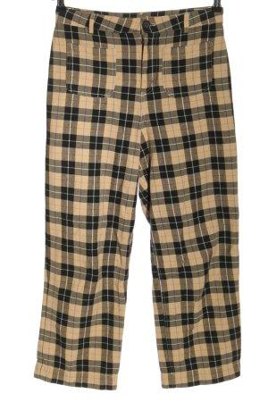 Monki 7/8 Length Trousers cream-black allover print casual look