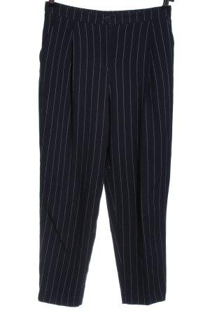 Monki 7/8-Hose schwarz-weiß Streifenmuster Casual-Look