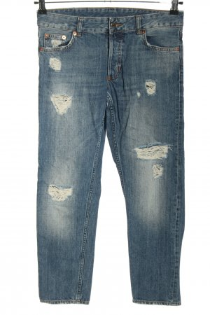 Monki 7/8 Jeans blau Street-Fashion-Look