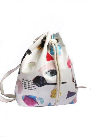 Monki Abstract Contemporary Mini Backpack