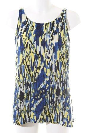 Monki ärmellose Bluse abstraktes Muster Casual-Look