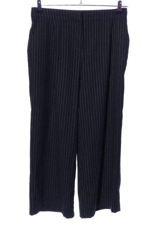Monki Anzughose schwarz Streifenmuster Business-Look