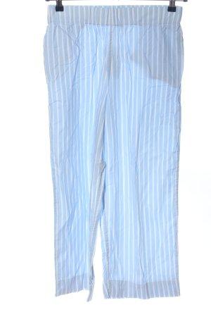 Monki Baggy Pants blau-weiß Streifenmuster Casual-Look