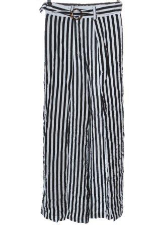Monki Baggy Pants white-black striped pattern casual look