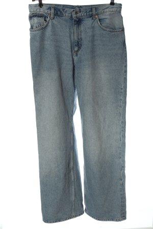 Monki Jeansy z prostymi nogawkami niebieski W stylu casual