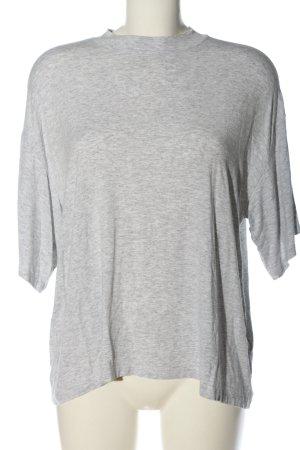 Monki Basic-Shirt hellgrau meliert Casual-Look