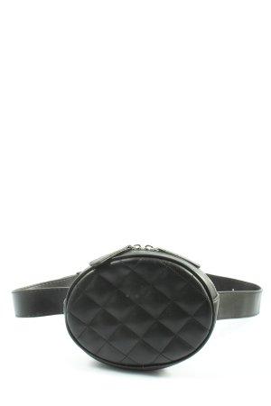 Monki Bumbag black quilting pattern casual look