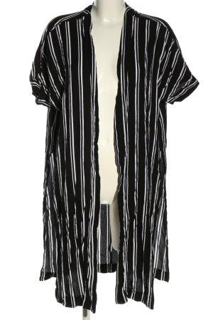 Monki Blusenjacke schwarz-weiß Streifenmuster Casual-Look