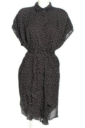 Monki Blusenkleid schwarz-weiß Allover-Druck Casual-Look
