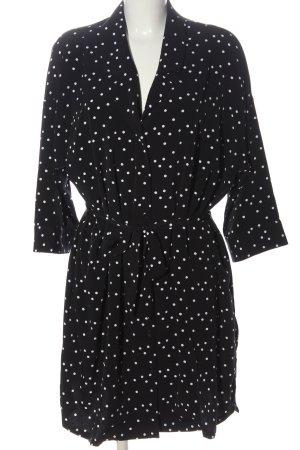 Monki Blusenkleid schwarz-weiß Punktemuster Casual-Look