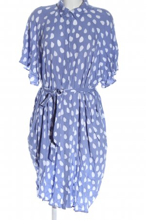 Monki Blouse Dress blue spot pattern business style