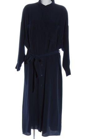 Monki Blusenkleid blau Business-Look