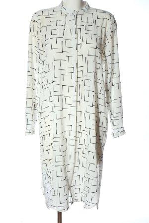 Monki Blusenkleid weiß-schwarz grafisches Muster Elegant