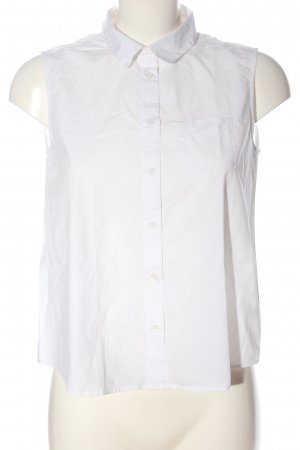 Monki Blouse topje wit zakelijke stijl