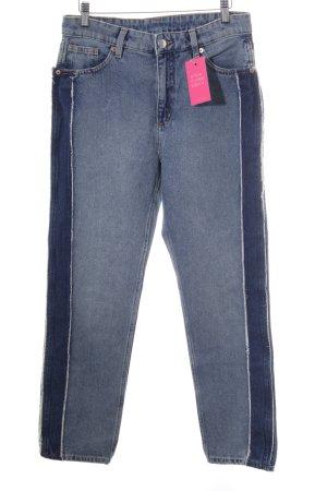 Monki Jeans boyfriend blu acciaio Cotone