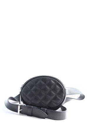 Monki Sac de cadre de vélo noir motif de courtepointe style décontracté