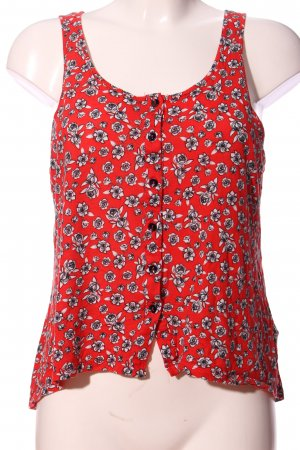 Monki Camisole rot-hellgrau Allover-Druck Casual-Look