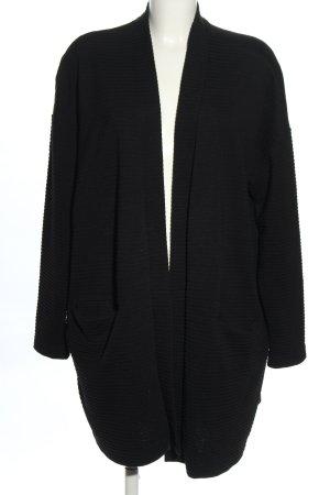 Monki Cardigan schwarz Streifenmuster Elegant