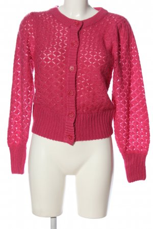 Monki Cardigan pink Zopfmuster Casual-Look