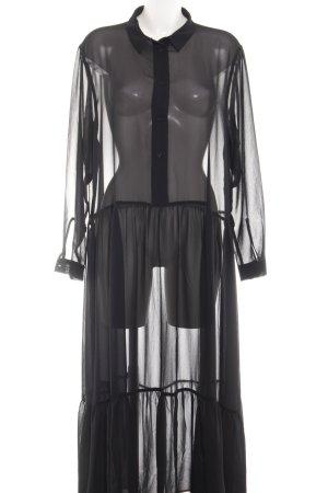 Monki Chiffonkleid schwarz extravaganter Stil
