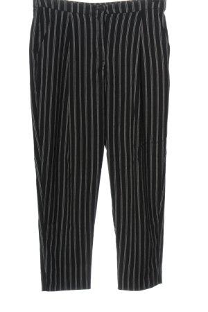 Monki Chinos black striped pattern business style