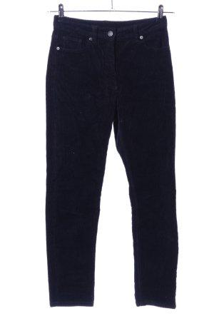 Monki Pantalone di velluto a coste nero stile casual