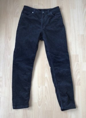 Monki Pantalon en velours côtelé noir