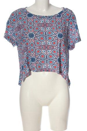 Monki Camisa recortada estampado repetido sobre toda la superficie look casual